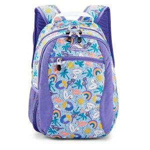 NWT High Sierra Curve Backpack in Pool Party